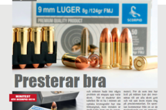 Scorpio 9 mm Luger Ammo tested in Swedish VAPENTIDNINGEN magazine