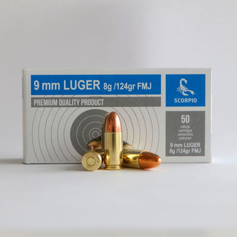 Scorpio 9 mm Luger Cartridges Tested in South Africa